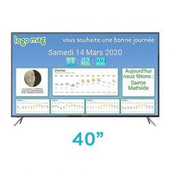 "TV LED 40"" environ"